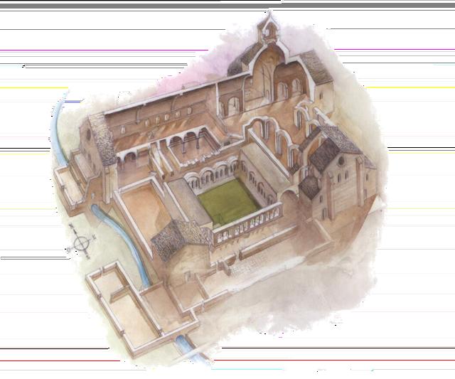 Abbaye de Sénanque - Vue de Coupe