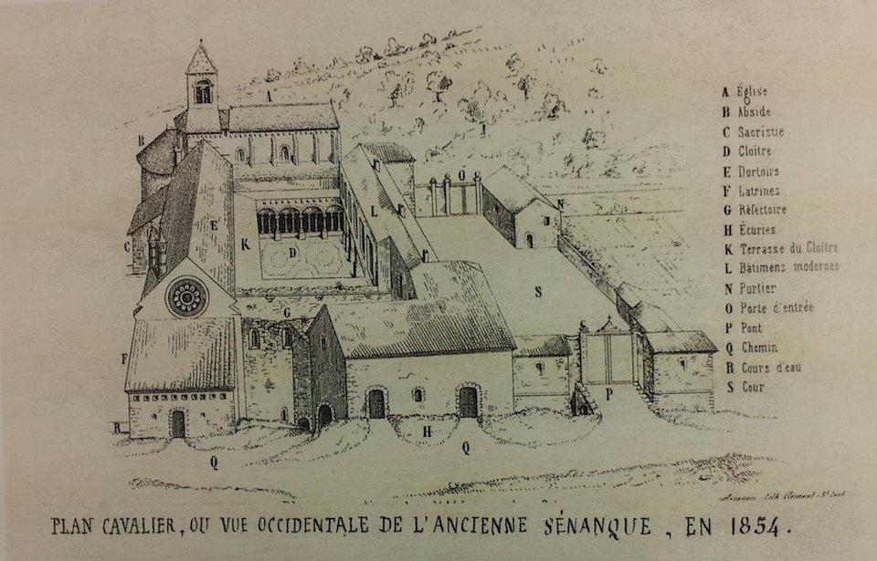 Plan Abbaye de Sénanque 19ème