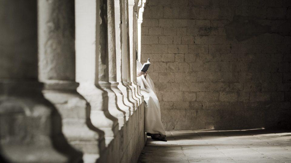 Le cloitre de l'Abbaye Notre Dame de Seananque.